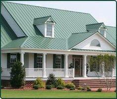 Metal Roofing - Green