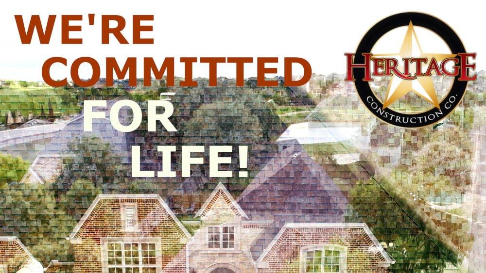 Heritage Construction Co. - Lifetime Workmanship Roof Warranty