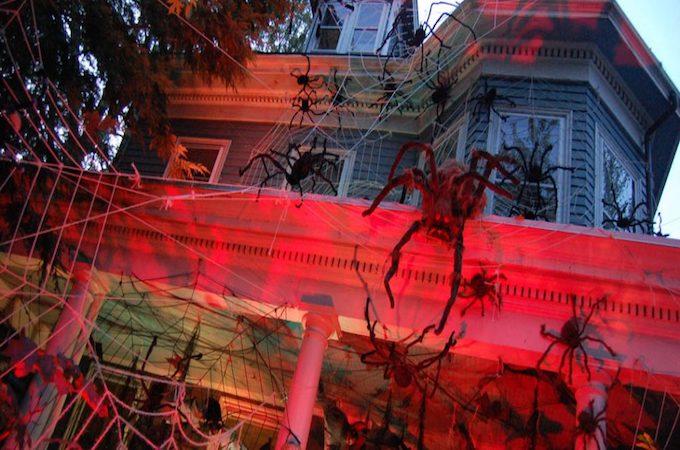 Rooftop Halloween Decorations